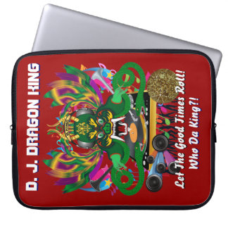 Mardi Gras D. J. Dragon King View Hints please Laptop Sleeve