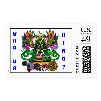 Mardi Gras D. J. Dragon King View Hints please Postage Stamp