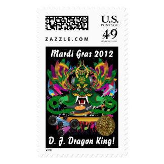Mardi Gras D. J. Dragon King View Hints please Stamps