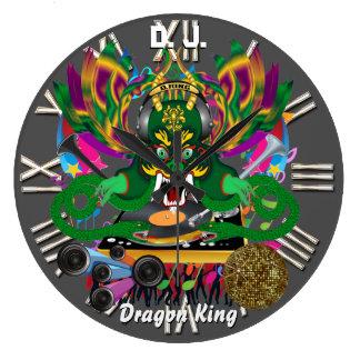 Mardi Gras D. J. Dragon King View notes please Large Clock