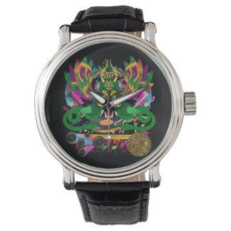 Mardi Gras  D. J. Dragon King Wristwatch