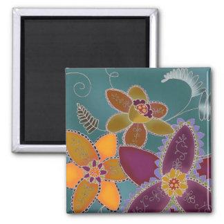 Mardi Gras Daffodil Magnet (Square)