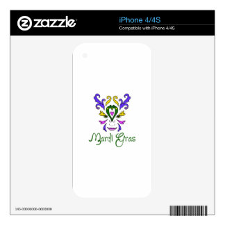Mardi Gras Decals For iPhone 4