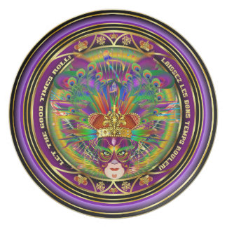 Mardi Gras Designer Plate  Please View Notes