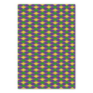 Mardi Gras Diamonds Harlequin Print Pattern Tissue Paper