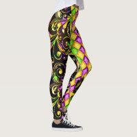 Mardi Gras Diamonds Pop Fashion Leggings
