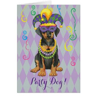 Mardi Gras Dobe Card