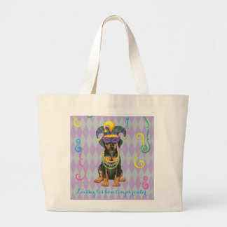 Mardi Gras Dobe Large Tote Bag