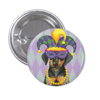 Mardi Gras Dobe Pinback Button