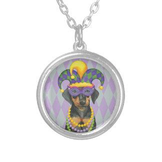 Mardi Gras Dobe Silver Plated Necklace