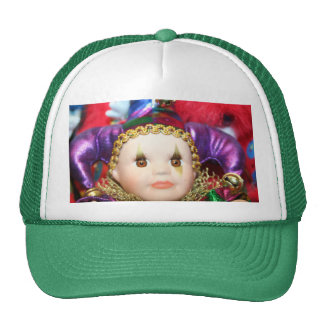 Mardi Gras Doll Mesh Hat