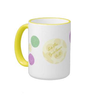 Mardi Gras Dots Celebration Fun Party Coffee Mugs