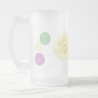Mardi Gras Dots Celebration Fun Party Glass Beer Mug