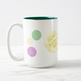 Mardi Gras Dots Celebration Fun Party Two-Tone Coffee Mug