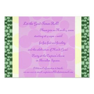 Mardi Gras Dots Green, Yellow, Purple Card