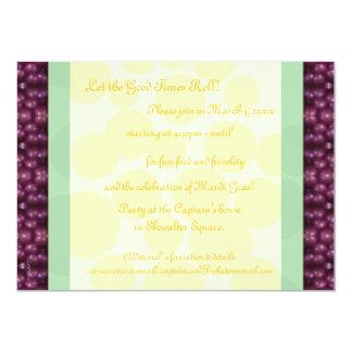 Mardi Gras Dots Purple, Green, Yellow Card