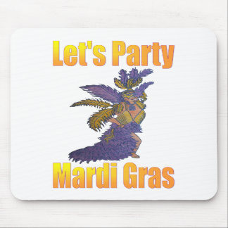 Mardi Gras Drag Queen Mouse Pads