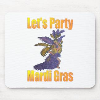 Mardi Gras Drag Queen Mousepads