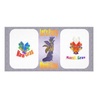 Mardi Gras Drag Queen Photo Greeting Card