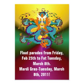 Mardi Gras Dragon V-2 Card
