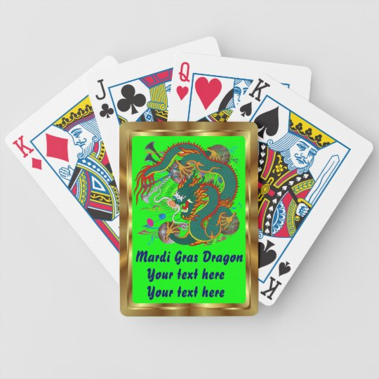 Mardi Gras Dragon view notes Please Bicycle Playing Cards