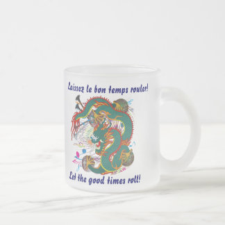Mardi Gras Dragon  View notes please Frosted Glass Coffee Mug