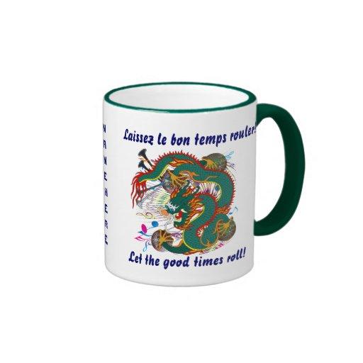 Mardi Gras Dragon  View notes please Ringer Coffee Mug
