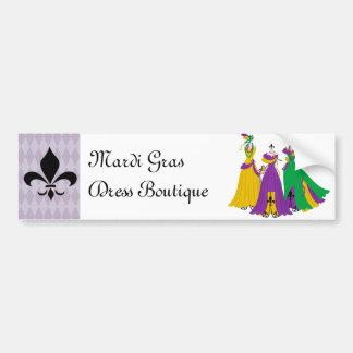 Mardi Gras Dress Shop Bumper Sticker