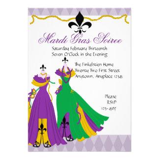 Mardi Gras Dress Shop Custom Invites