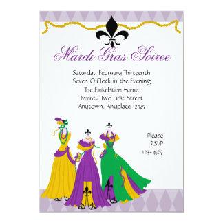 Mardi Gras Dress Shop 5x7 Paper Invitation Card