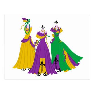 Mardi Gras Dress Shop Postcards