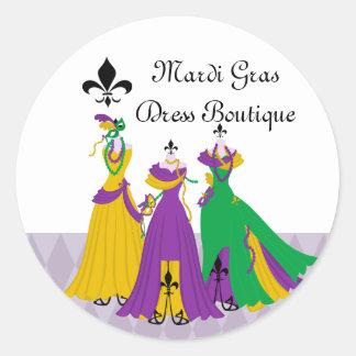 Mardi Gras Dress Shop Stickers