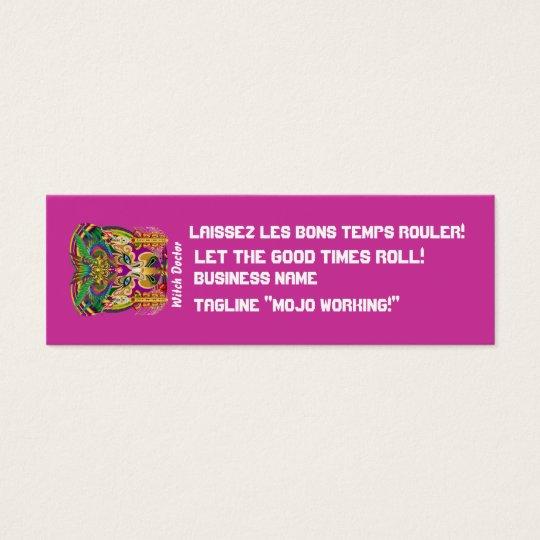 Mardi Gras Dual Logo Please View Notes Mini Business Card