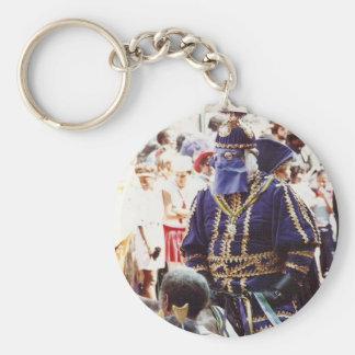Mardi Gras Duke Basic Round Button Keychain