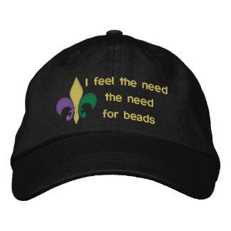 Mardi Gras Embroidered Baseball Caps