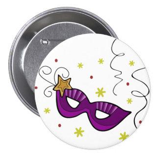 Mardi Gras Eye Mask Button