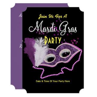 Mardi Gras Fancy Mask Party Invite