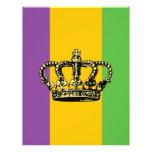 "Mardi Gras Flag Crown 8.5"" X 11"" Flyer"