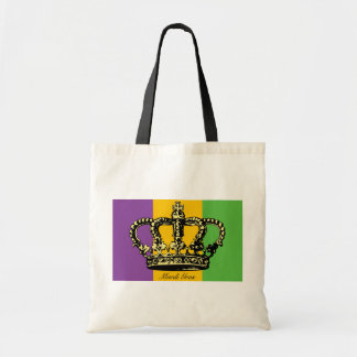 Mardi Gras Flag Crown Budget Tote Bag