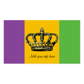 Mardi Gras Flag Crown Double-Sided Standard Business Cards (Pack Of 100)