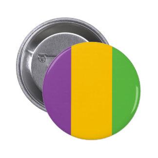 Mardi Gras Flag Crown Pinback Buttons