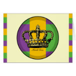 Mardi Gras Flag Crown Cards