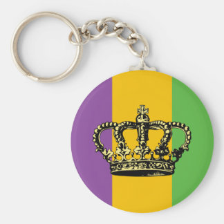 Mardi Gras Flag Crown Keychain
