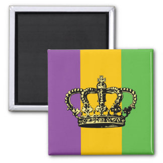 Mardi Gras Flag Crown Magnet