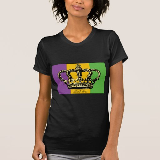 Mardi Gras Flag Crown Tee Shirt