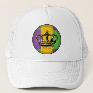Mardi Gras Flag Crown Trucker Hat