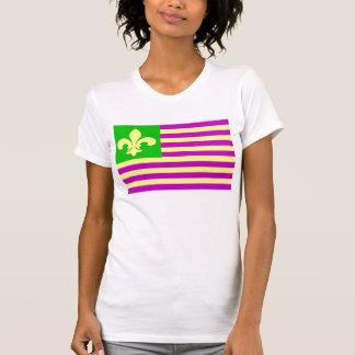 Mardi Gras Flag Tee Shirt