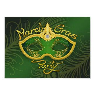 """Mardi Gras Flat Invitation 5"""" X 7"""" Invitation Card"""