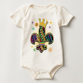 Mardi Gras Fleur Celebrate Baby Bodysuit