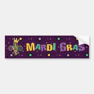 Mardi Gras Fleur Celebrate Car Bumper Sticker